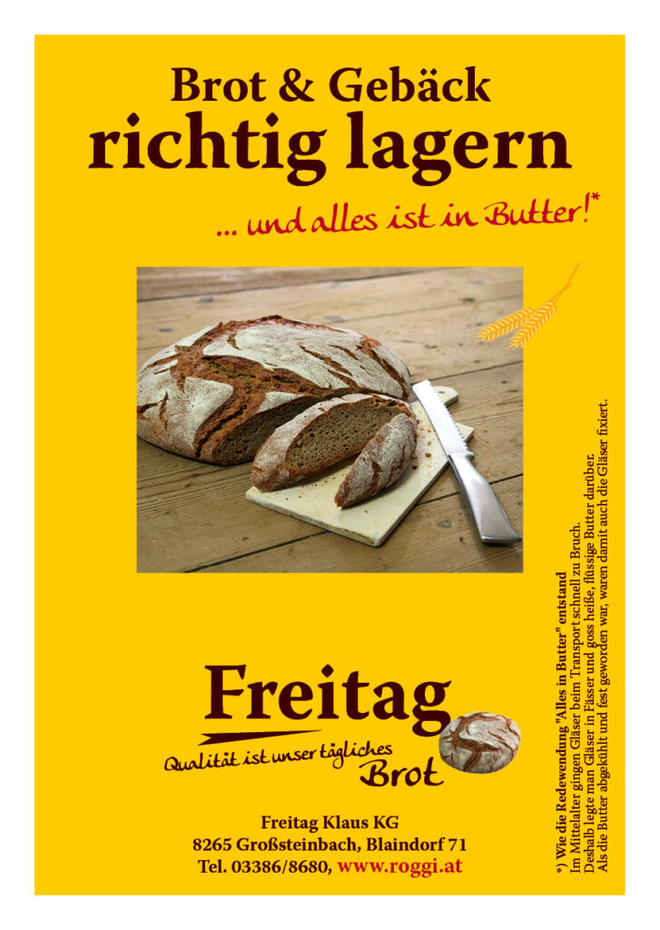 Brot und Gebäck richtig lagern - und alles ist in Butter